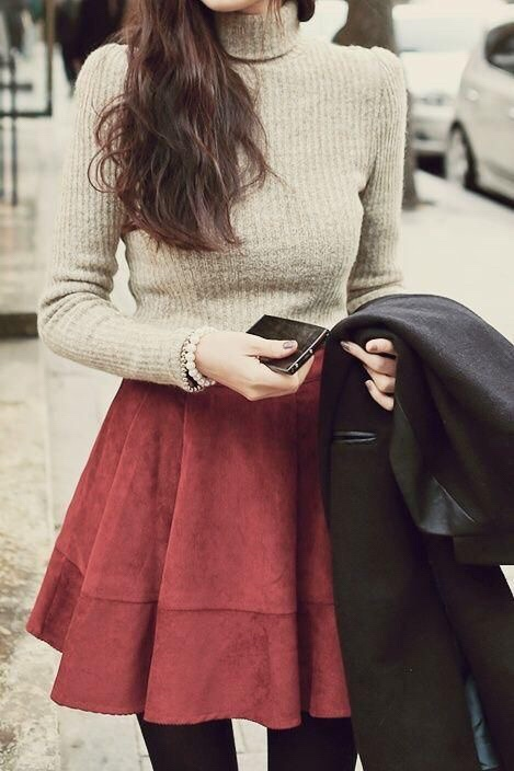 Kış Elbise/Etek Modelleri