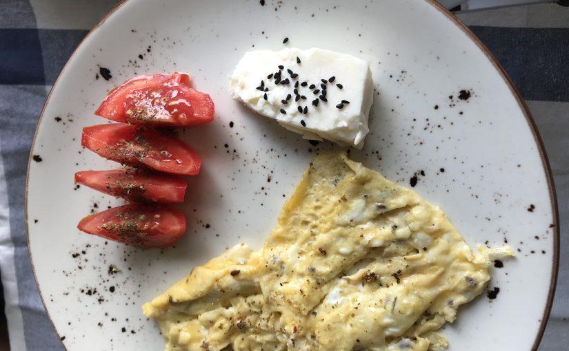 Keten Tohumlu Yağ Yakıcı Omlet